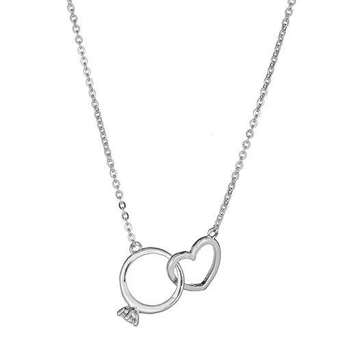 Engagement Ring & Heart Necklace