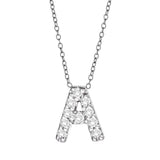 Diamond Initial Necklace On Chain