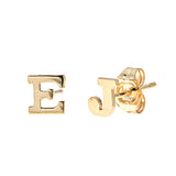 Personalized 14k Initial Stud Earrings - E113