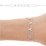 BRAVE  Empowered Bracelet - white EB12W