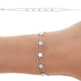 5 STAR SYMBOLS  Empowered Bracelet - white EB19W