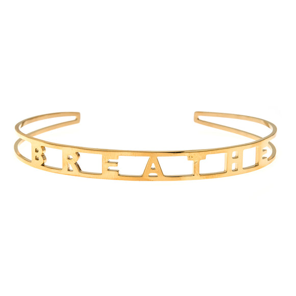 Breathe Cuff Bracelet - ECB3 Yellow