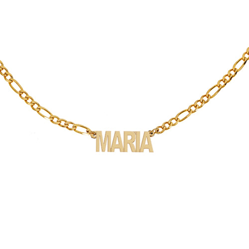 Personalized Figaro Brass Necklace