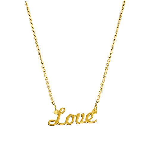 Love Script Necklace - EPSC10