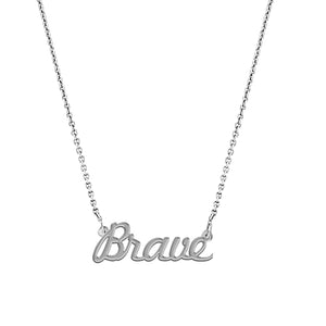 Brave Script Necklace - EPSC12