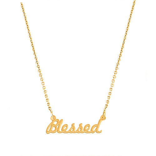 Blessed Script Necklace - EPSC13