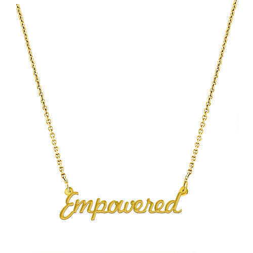 Empowered Script Necklace - EPSC22