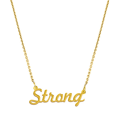 Strong Script Necklace - EPSC24