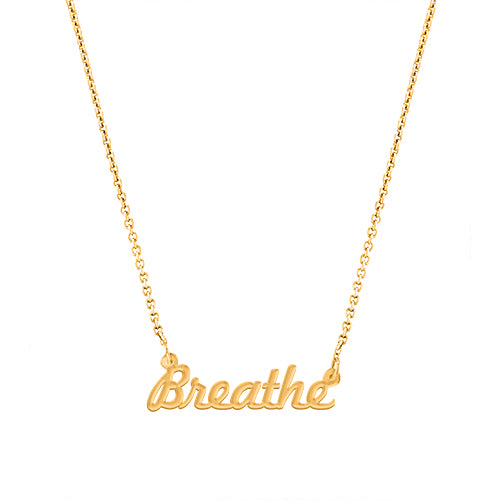 Breathe Script Necklace - EPSC3