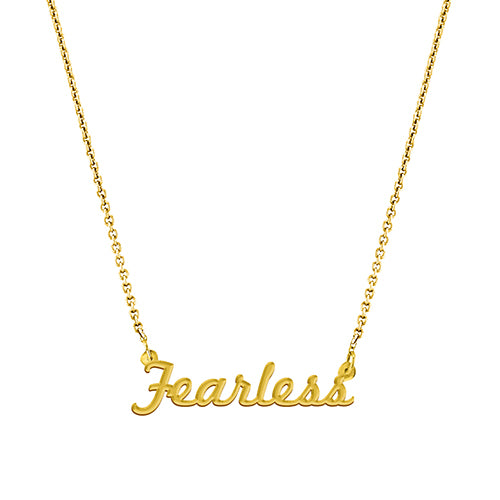 Fearless Script Necklace -  EPSC5