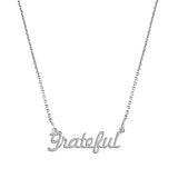 Grateful Script Necklace - EPSC8