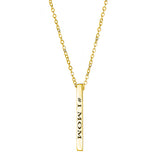 #1 Mom Vertical Block Necklace - EPVB33
