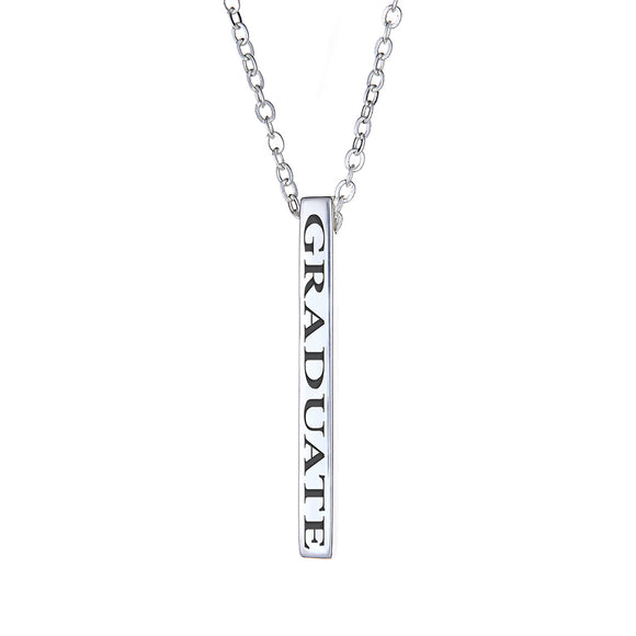 GRADUATE Vertical Block Necklace - White