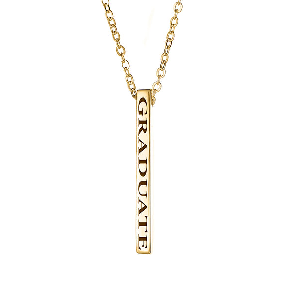 GRADUATE Vertical Block Necklace - Yellow