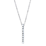 Fearless Vertical Block Necklace - EPVB5