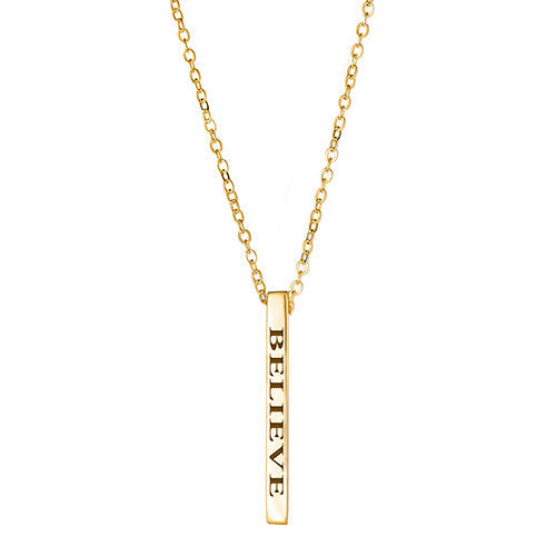 Believe Vertical Block Necklace - EPVB7