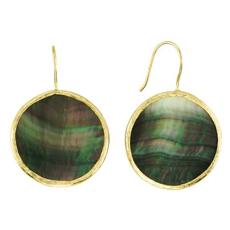 Abalone Pearl Slice Round Earring - HRE65