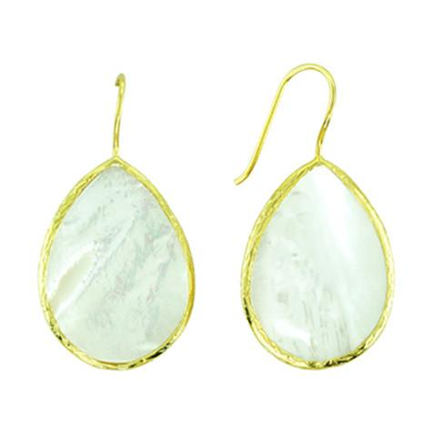 Pearl Slice Tear Drop Earring - HRE67