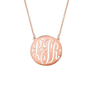 Personalized Medium Cut Out Monogram Necklace