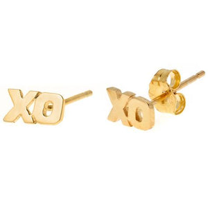 Personalized 14k 2 Initial Stud Earrings - MGEXO