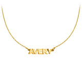 Personalized 14k Block Name Necklace - MGNASB
