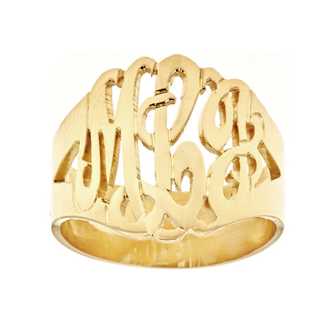 Personalized 14k Script Monogram Ring - MGRING