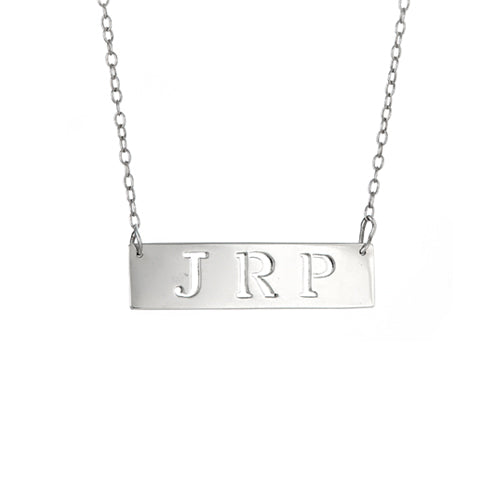 Personalized  Cut Out Bar Necklace