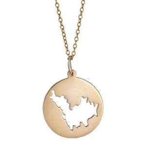 Cut out area disc necklace - MS5044