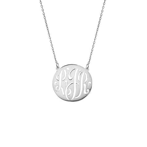 Personalized Small Cut Out  Monogram Necklace - MS756