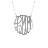 Personalized Large Monogram Necklace - MS833