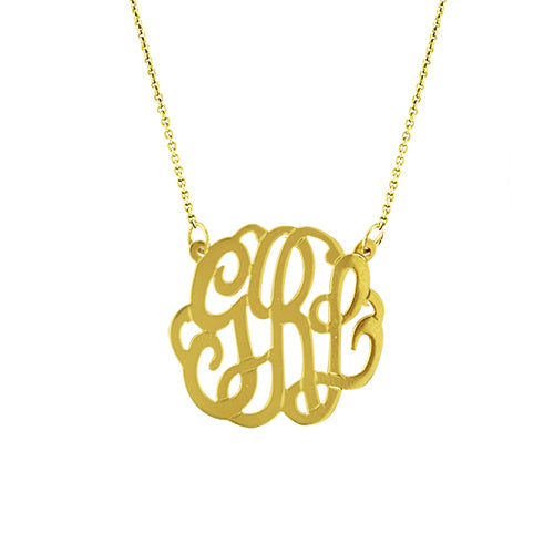 Personalized Medium Monogram Necklace - MS834