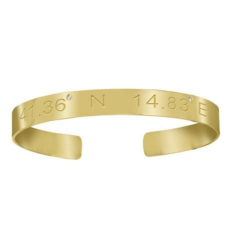 Personalized Coordinates Bangle - MSBCO