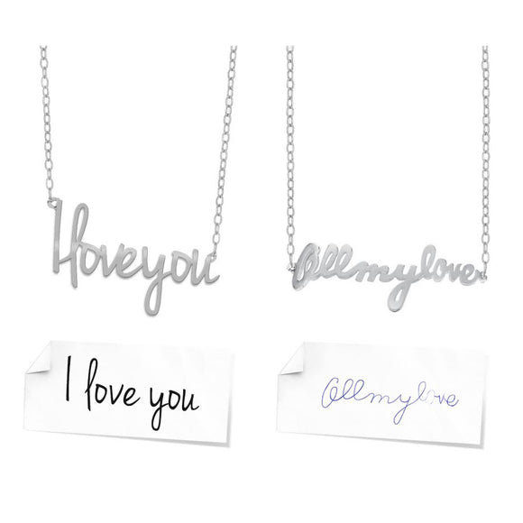 Custom Personalized Handwriting Necklace
