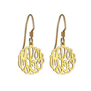 Personalized Dangle Monogram Earrings - MSEH