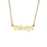Personalized Heart Name Necklace - MSHASB