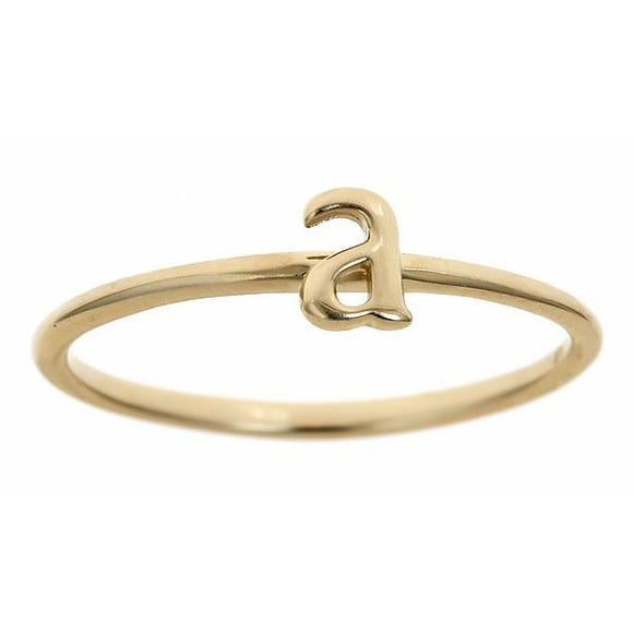 Personalized 14k Lowercase Initial Ring - R2624