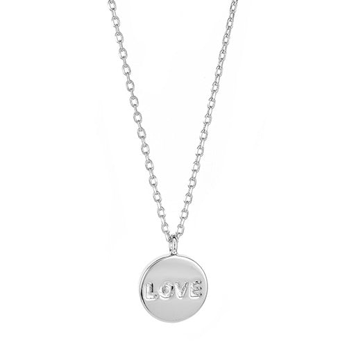 Love Disc Necklace - CZP45