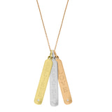 Personalized 14k Vertical Bar Necklace - p4052