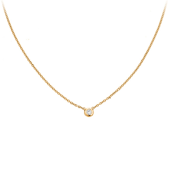 Solitare Bezel Necklace - PC0303