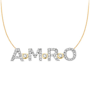Personalized 14k & Diamond 4 Initial Necklace -  PCT364D3