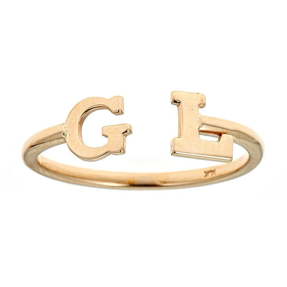 Personalized 14k Mini Initial Ring - R114