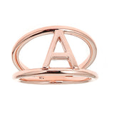 Personalized 14k Uppercase Initial Split Shank Ring - R2839