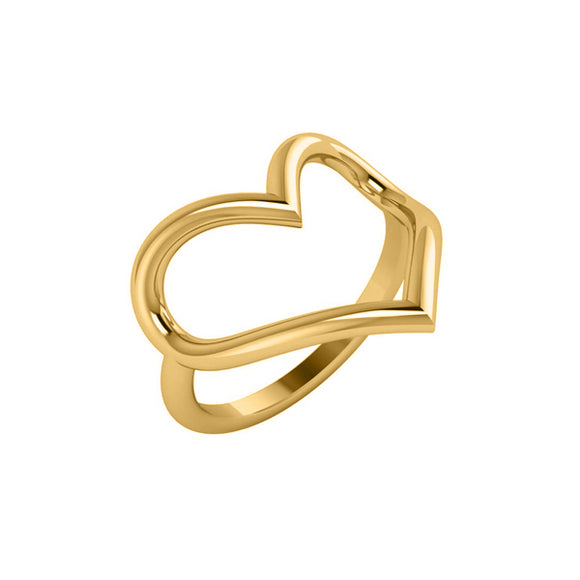 14k Heart Outline Ring - R6525