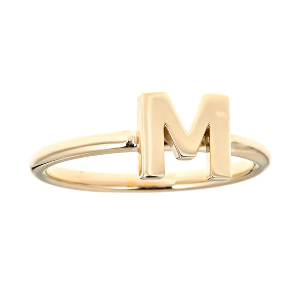 Personalized 14k Uppercase Initial Ring - R6560
