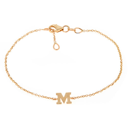 Personalized 14k Mini Initial Bracelet - BM111