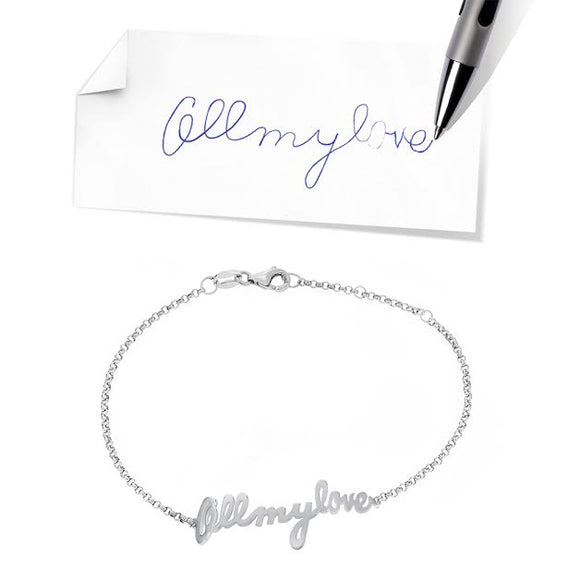 Custom Personalized Handwriting Bracelet