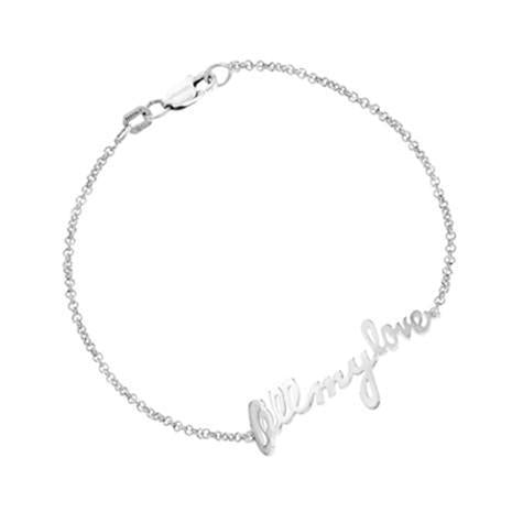 Personalized 14k Handwriting Bracelet - MGBCS