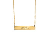 Personalized 14k Engravable Bar Necklace - MG5002