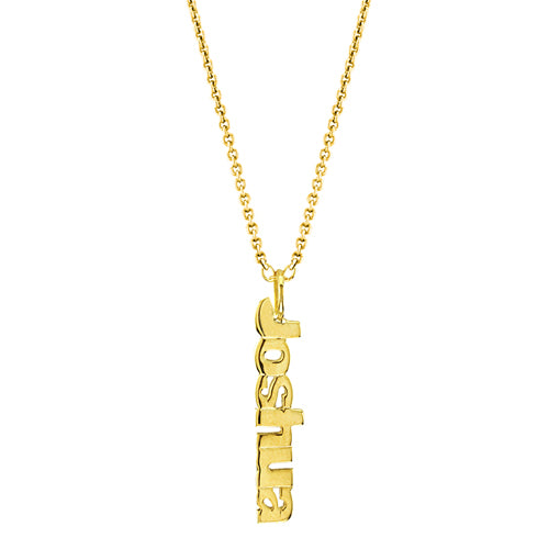 Personalized Vertical Name Necklace