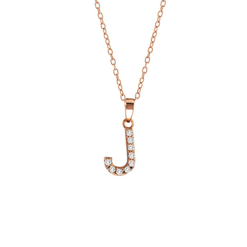 Personalized CZ Initial Necklace